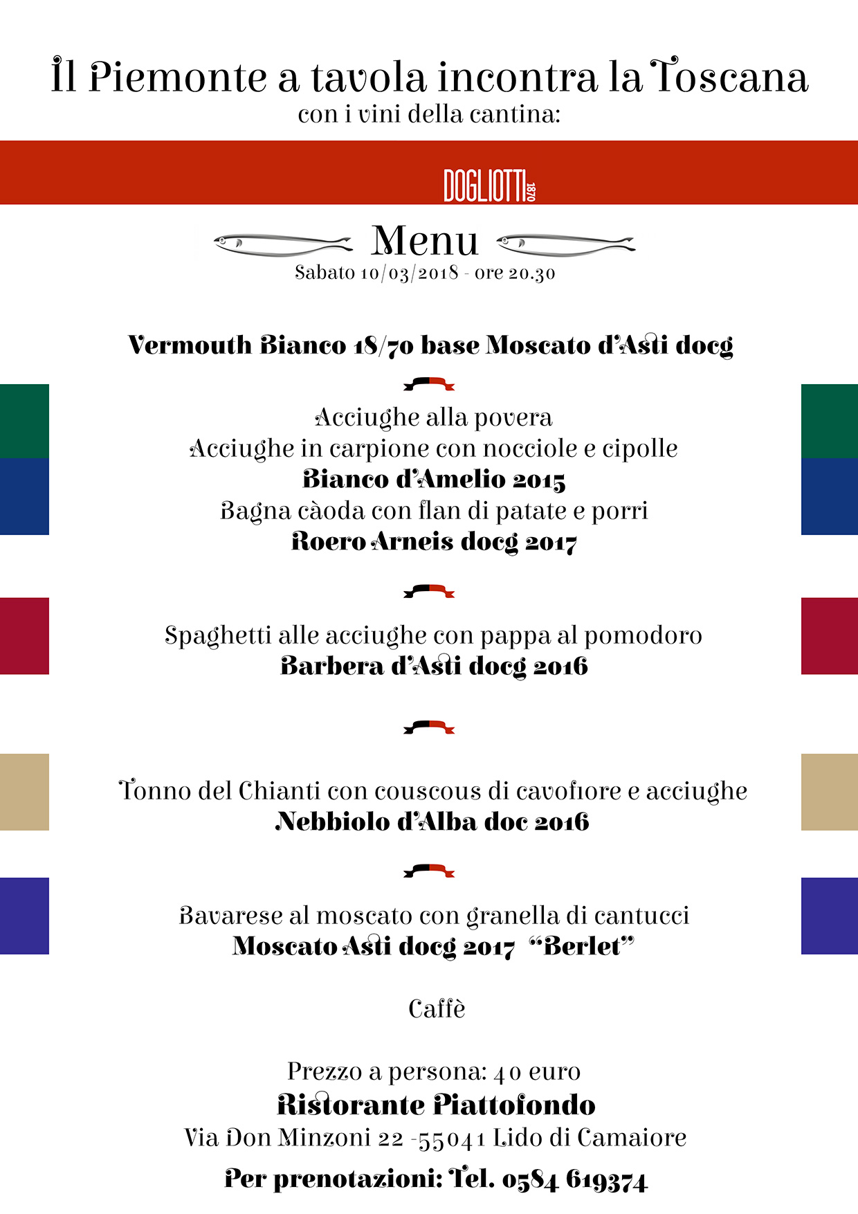 al ristorante Piattofondo Il Piemonte a tavola incontra la Toscana